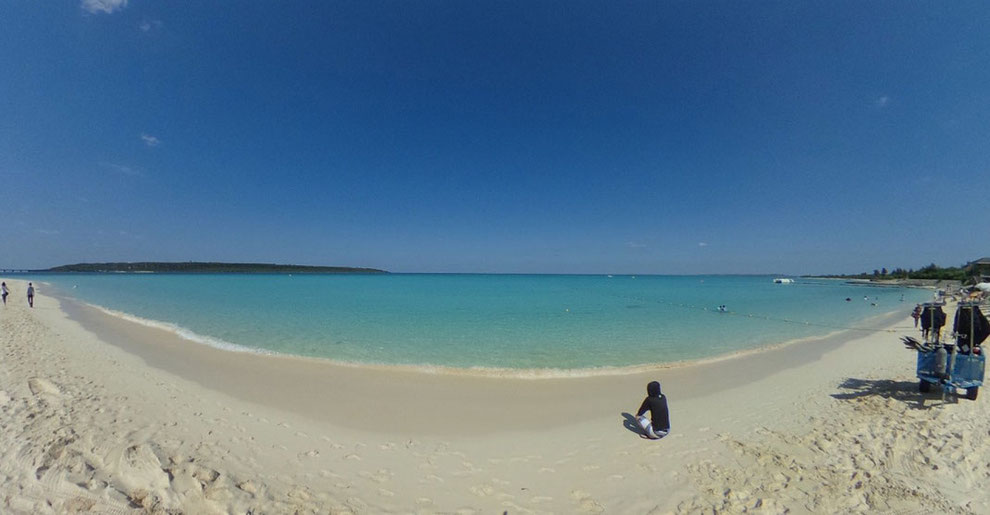宮古島の日本一綺麗な海「前浜ビーチ」