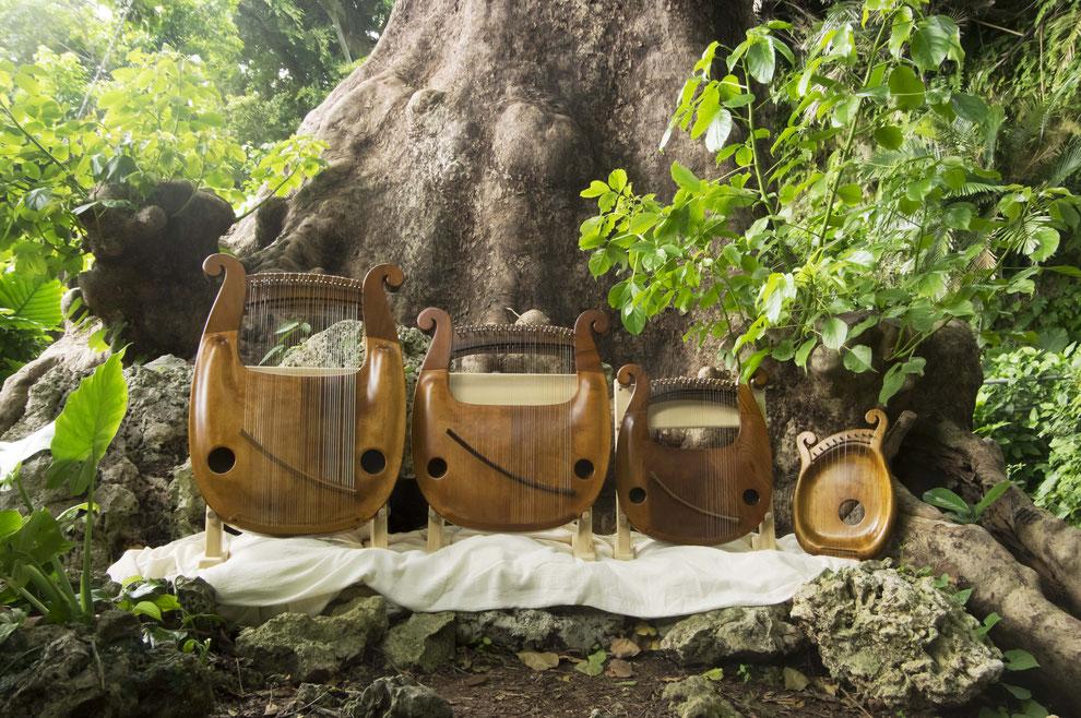 竪琴 ライアー てるる詩の木工房 leier lyre 沖縄竪琴 琉球竪琴 ライアー演奏 竪琴の音色 ライアー教室