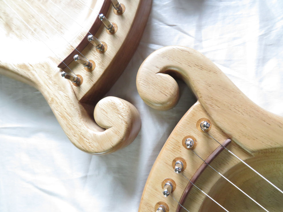 ライアー ライア 竪琴 てるる詩の木工房 ことのは 9弦  leier lyre