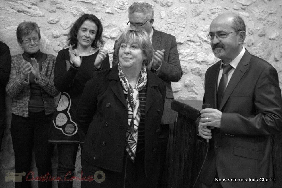 Françoise Cartron, Vice-présidente du Sénat et Michel Nadaud, Maire de la Commune Le Pout
