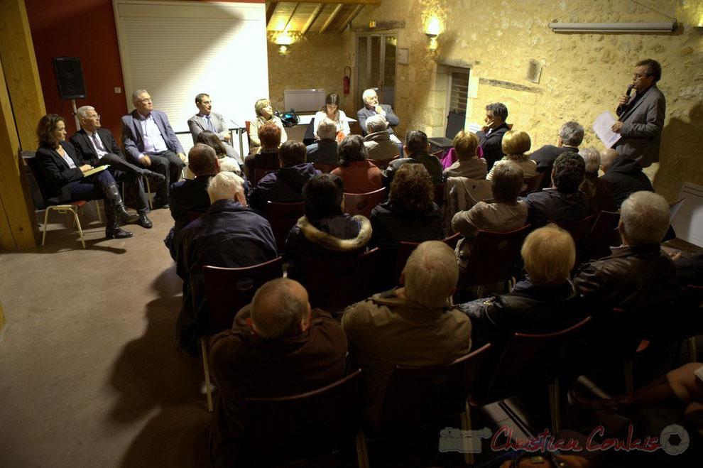 """Réunion publique des candidats """"Majorité départementale"""" aux élections départementales du canton de Créon"""