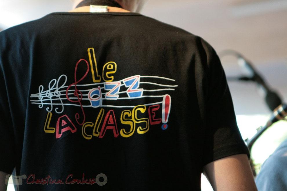 T-shirt du Big Band Jazz du Collège Eléonore de Provence, Monségur, promotion 2011. Festival JAZZ360, Cénac. 01/06/2011