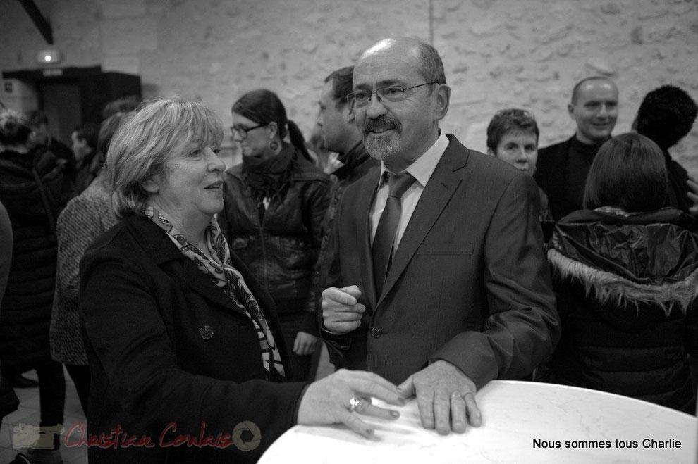 Françoise Cartron, Vice-présidente du Sénat et Michel Nadaud, Maire de Le Pout