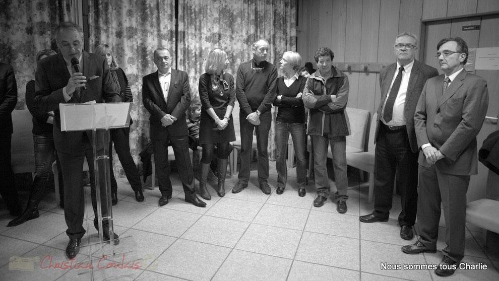 En Présence de Jean-Marie Darmian, Vice-président du Conseil général de la Gironde et Lionel Faye, Président de la Communauté de Communes de Portes de l'Entre-Deux-Mers