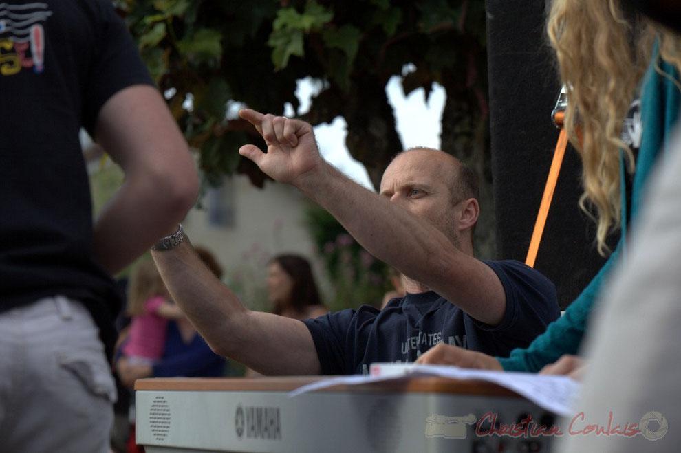 Festival JAZZ360, Cénac. Rémi Poymiro, directeur du Big Band Jazz du Collège de Monségur