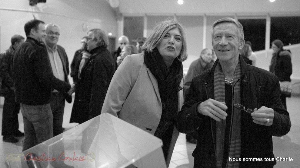 Catherine Veyssy, maire actuel et Gérard Pointet, ancien maire de 1989 à 2001
