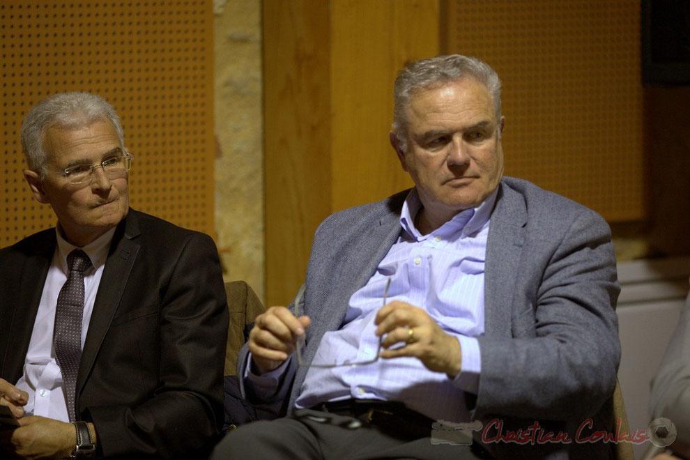 Gérard Poibelaud, Adjoint au Maire de Tresses, Jean-Marie Darmian, Vice-président du Conseil général de la Gironde