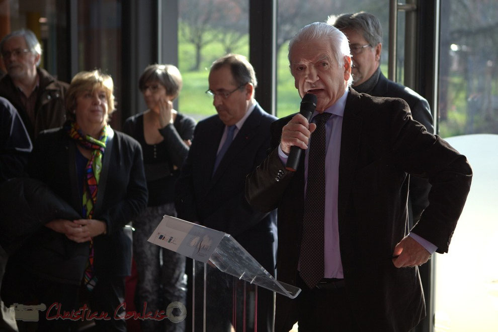 Philippe Madrelle, Président du Conseil général de la Gironde, lors de l'inauguration de La Source à Sallebœuf © Christian Coulais