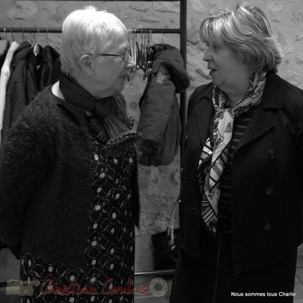 Suzette Grel, ancienne Maire de Le Pout et Françoise Cartron, Vice-présidente du Sénat