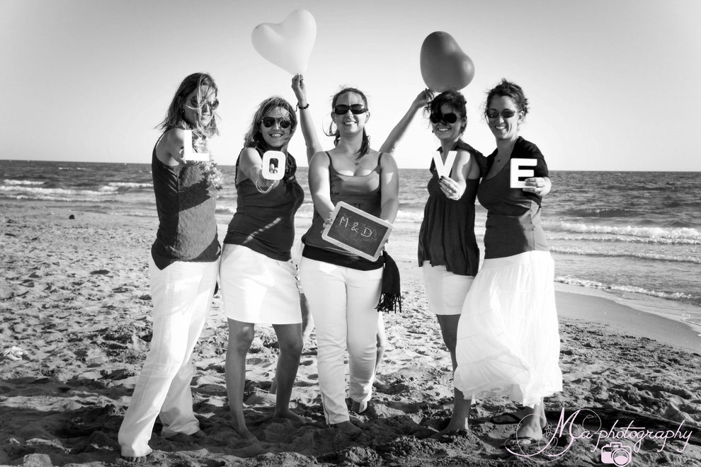 EVJF, enterrement de vie de jeune fille, plage, mer