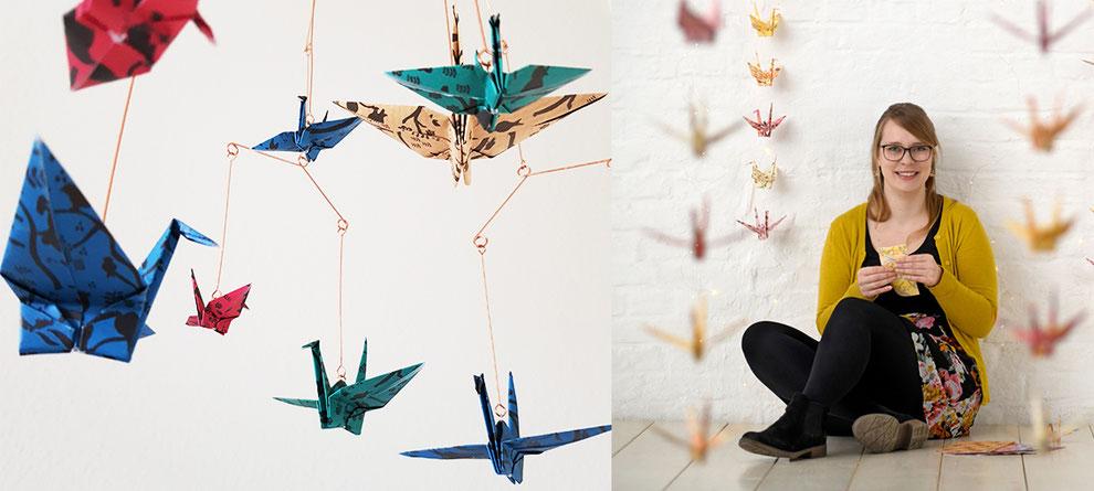 nancys kreativ-werkstatt, kathrins papier, origami, kraniche