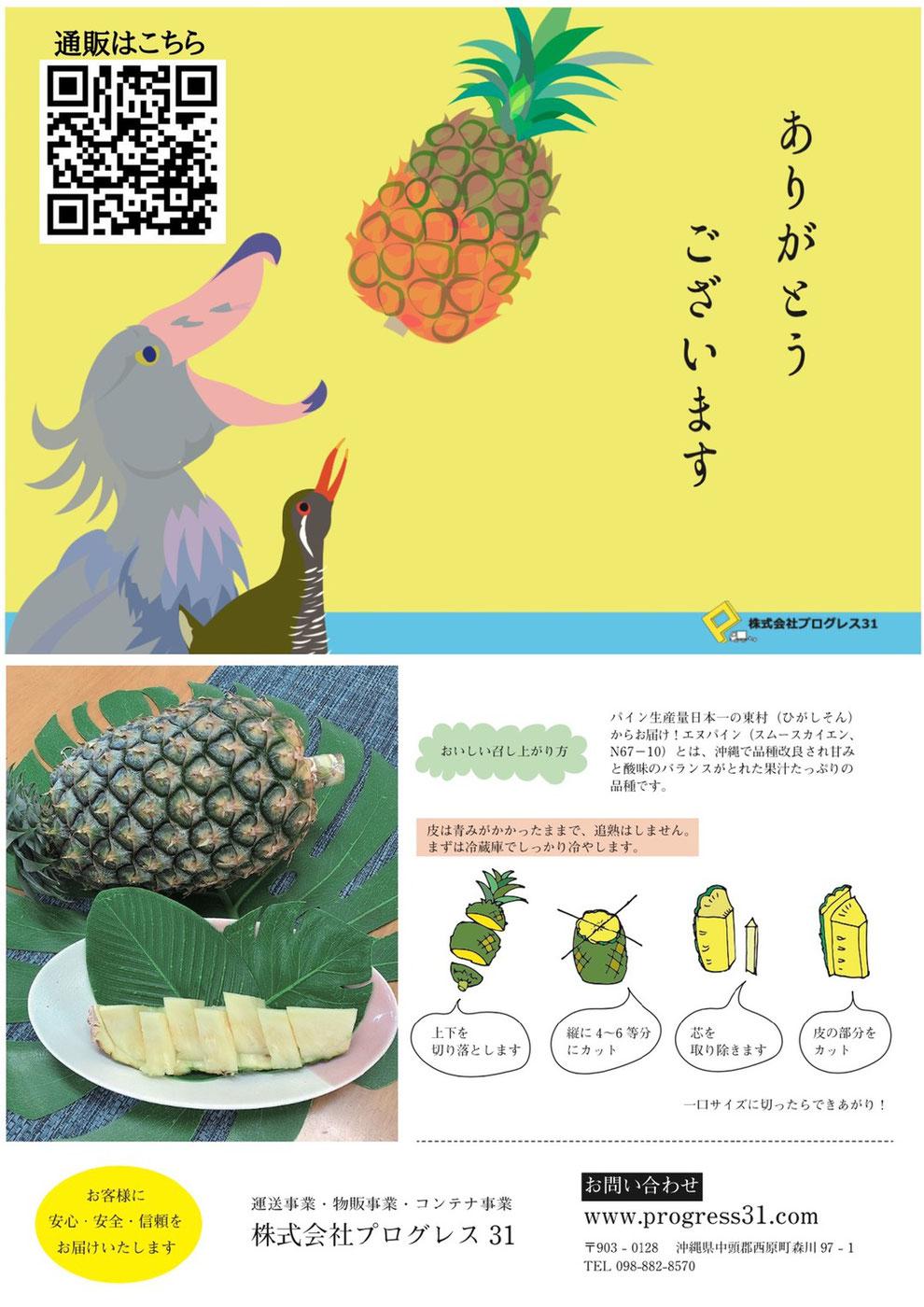 ピックアップ商品(東村直送!完全無農薬完熟パイン)