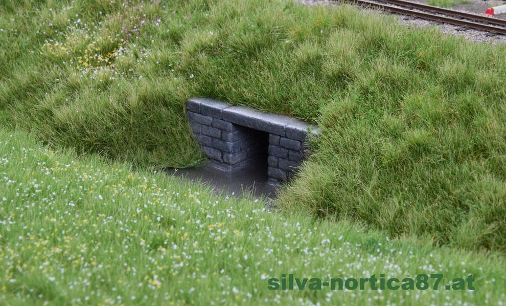 Schmalspur Modul Alt Weitra 1958 Wasserdurchlaß