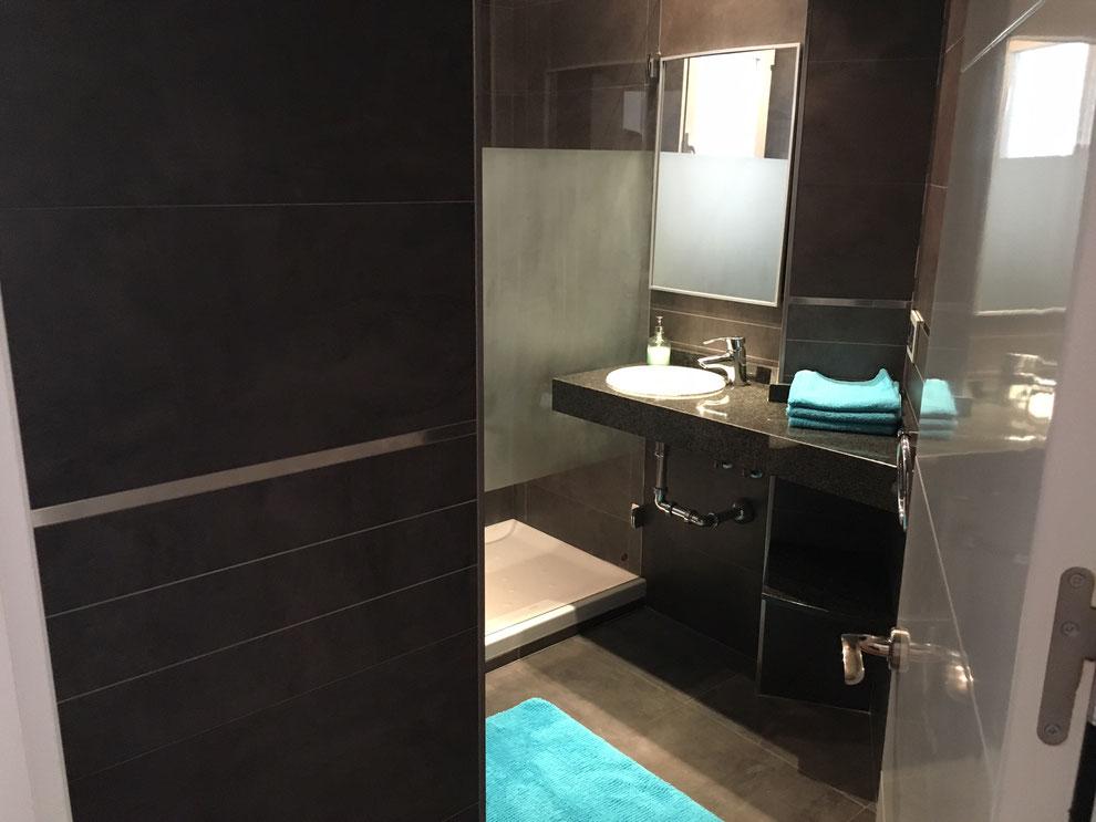 badkamer bij master bedroom appartement in Valencia