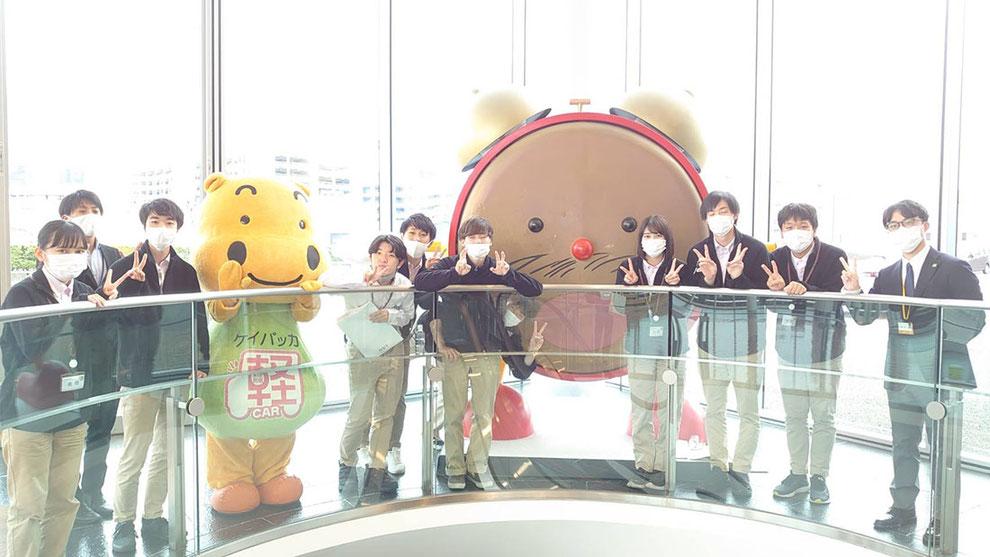 NST新潟にて めざましくんと一緒に