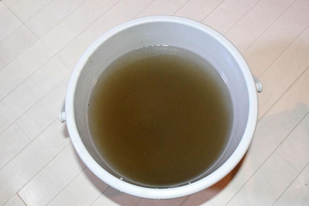 水換えによる汚れの説明