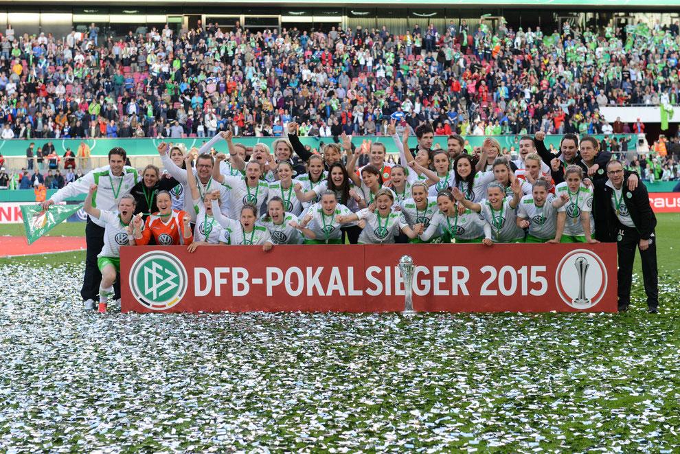 VFL Wolfsburg - Gewinner des DFB Pokal der Frauen 2015