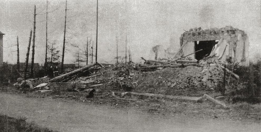 Haus Kullmann in der Jabacher Straße, zerstört am 14. Februar 1945.