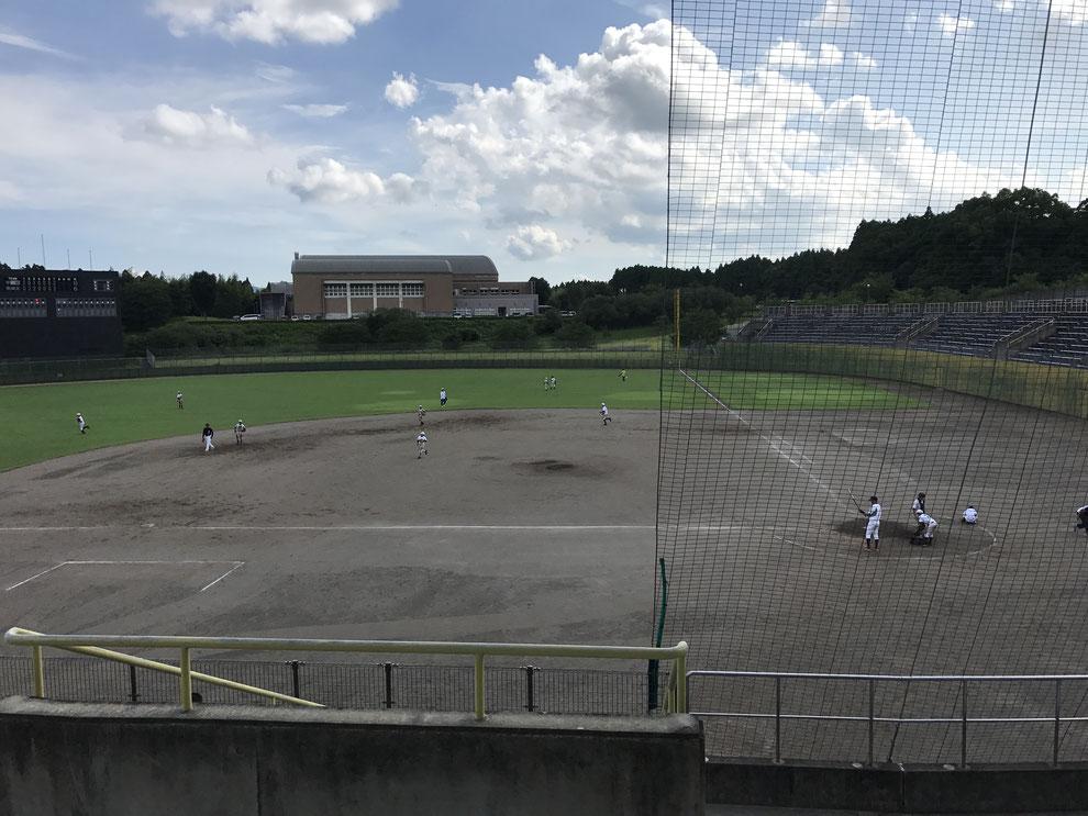 練習試合後ノック風景