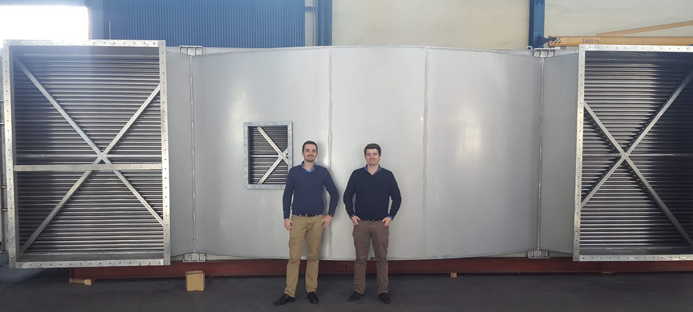 Custom-made stainless steel gas to gas heat recovery unit