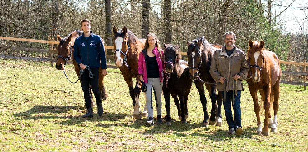 Familie Schwaiger Erwin, Dimitri, Kassandra, Reit- und Voltigierschule Schwaiger, RC Georgsberg, Team