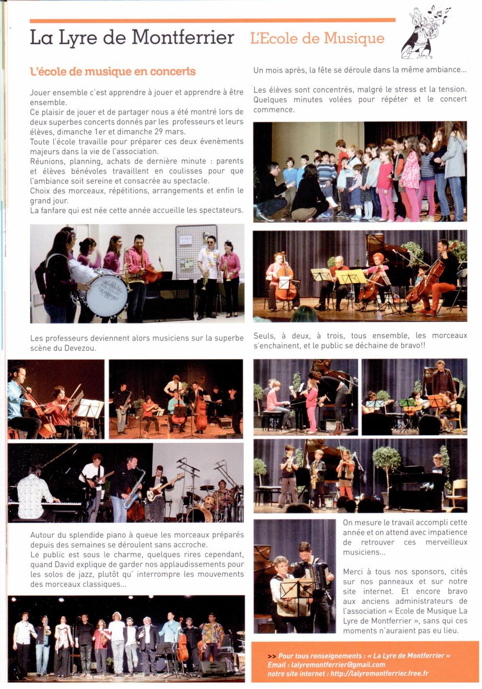 école de musique de montferrier sur lez bulletin municipal concert professeurs concert élèves