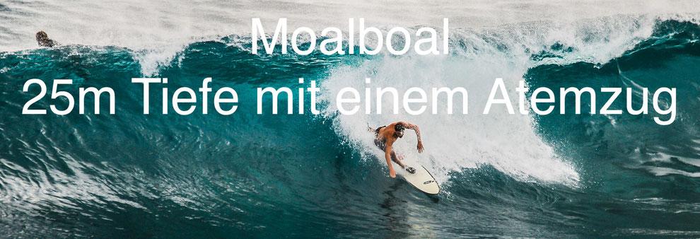 Moalboal - 25m Tiefe mit einem Atemzug