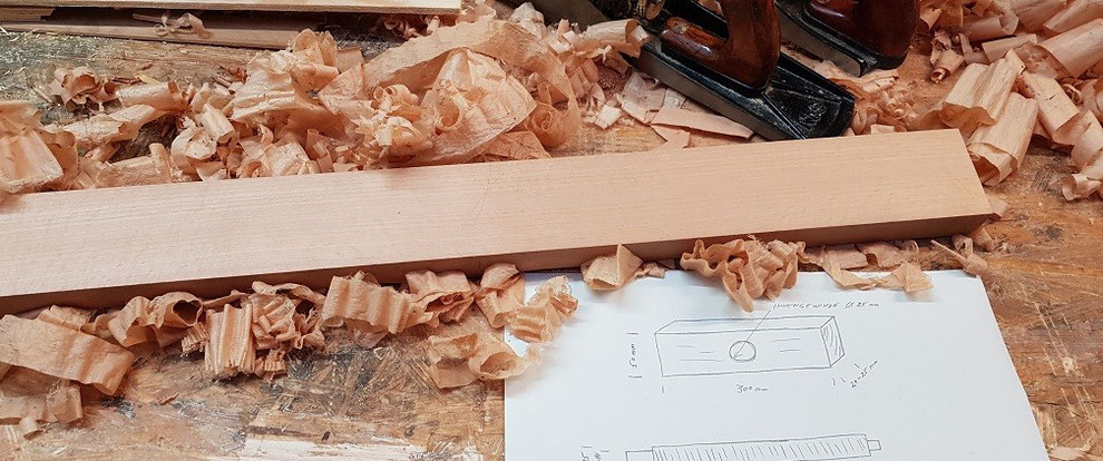 Trueing a piece of wood with the hand plane