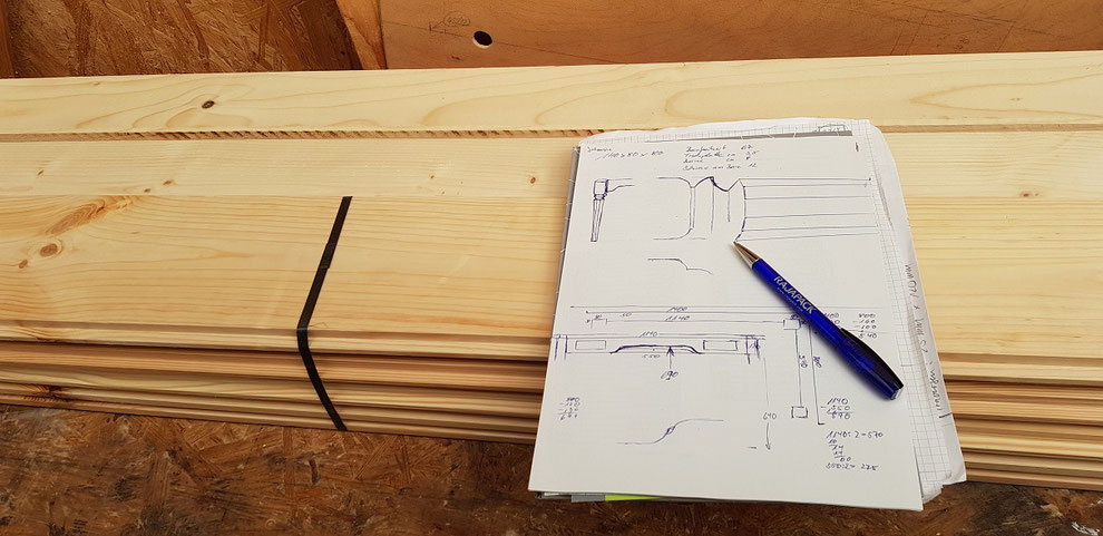 Cutting your lumber for the working desk.