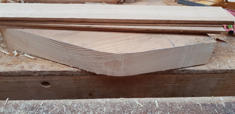 laminating oak veneer