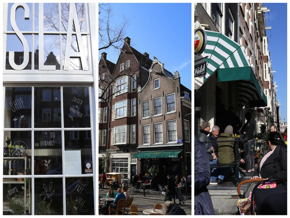 Cafés und Restaurants im Jordaan