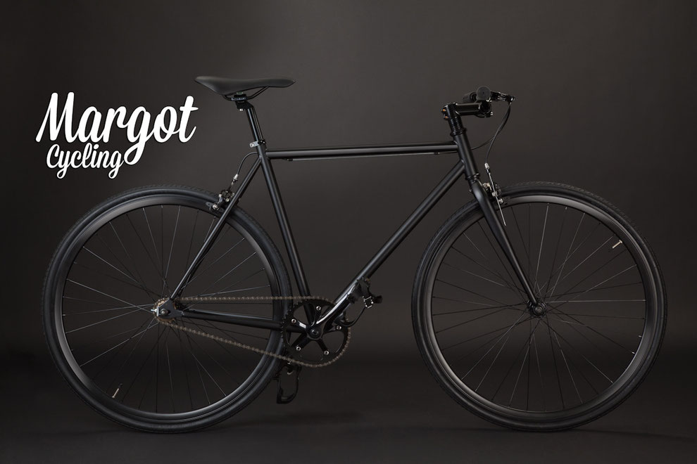 WILD BOY fixed bike: matt black frame and fork.