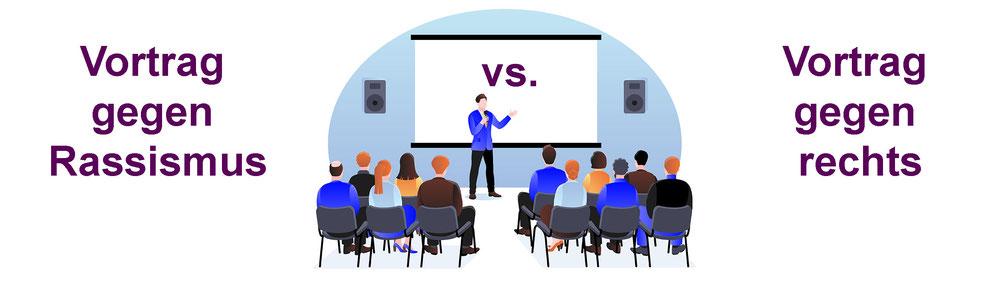 Vortrag gegen Rassismus oder Vortrag gegen rechts?