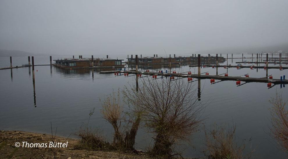 Ramsberger Hafen im Nebel