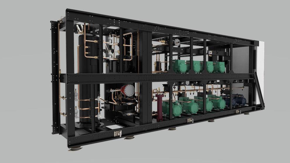 Kältetechnik - Verbundanlage für Industrieanwendung