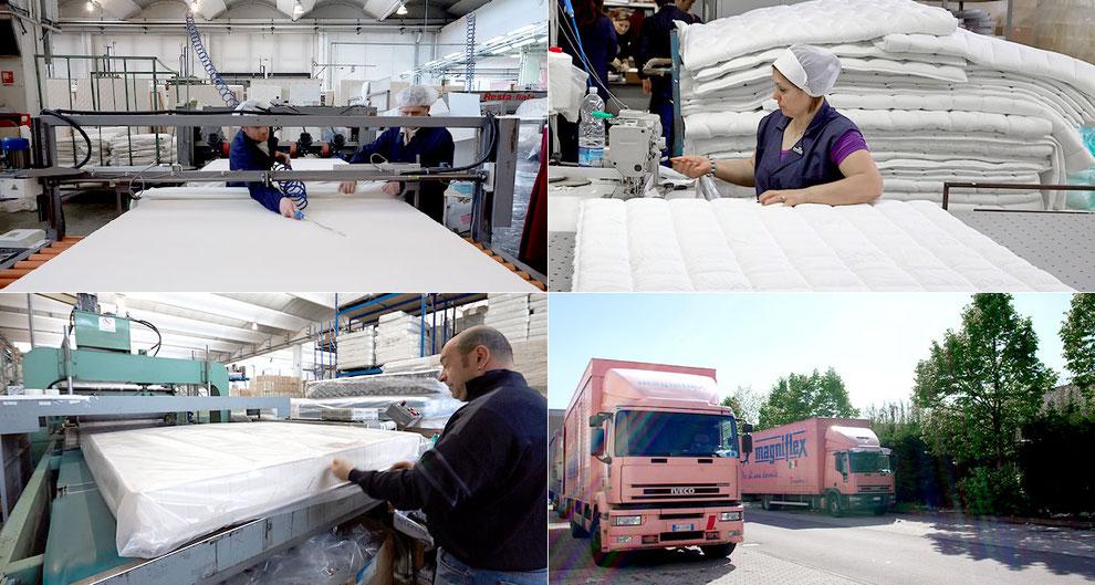 マニフレックス イタリア本社工場