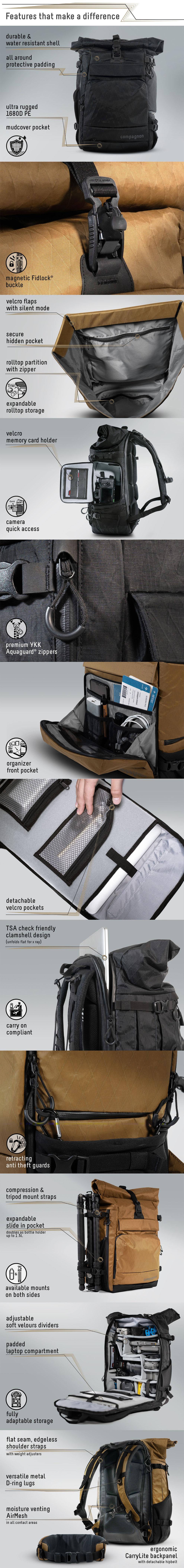 Element Backpack von Compagnon