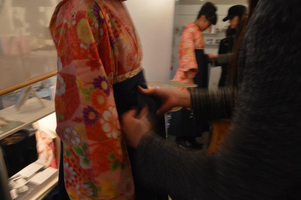 福岡平尾美容室  卒業式着付け 袴