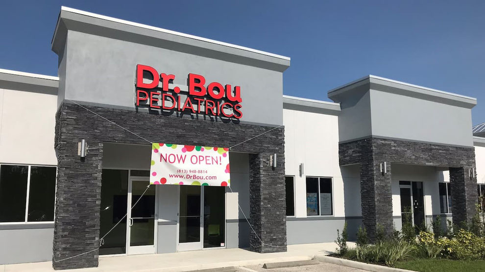 Building front of Dr. Bou Pediatrics in Wesley Chapel, FL, by New Tampa, FL