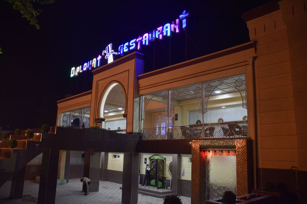 The Diplomat Restaurant, one of the many investments of Afghans in Termez, Uzbekistan (Franz J. Marty, 18th of April 2021)
