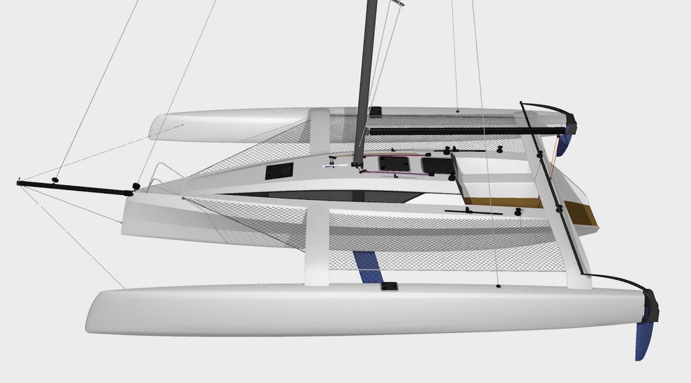 TR42 Trimaran high profile