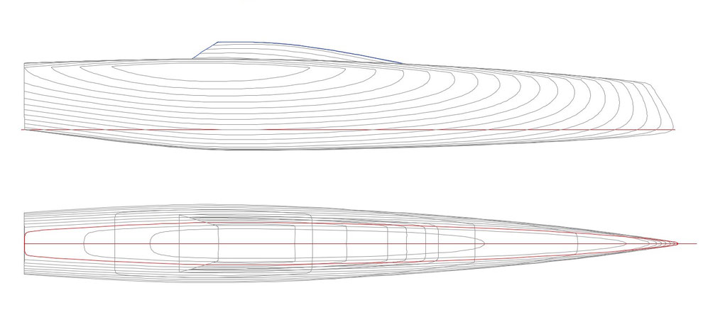 Lines plan for the Livewire Catamaran