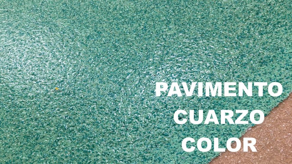 Pavimento cuarzo color