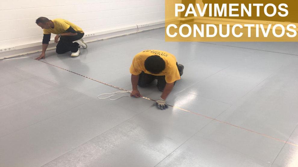 Pavimentos industriales conductivos