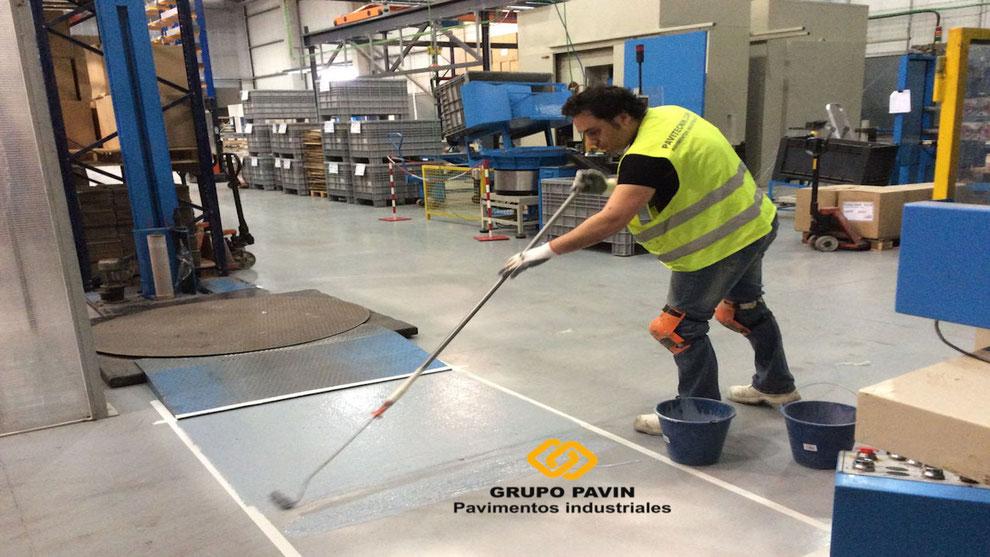 Pavimentos industriales epoxi aplicados por Grupo Pavin
