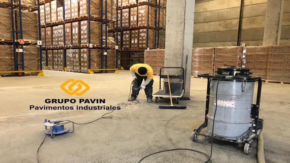 Parcheo de pasillos para empresas de logística