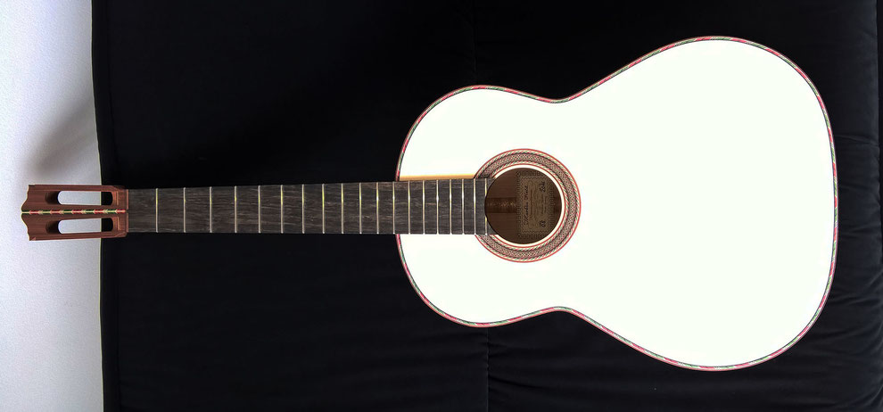 Gitarre fertig zum Lackieren