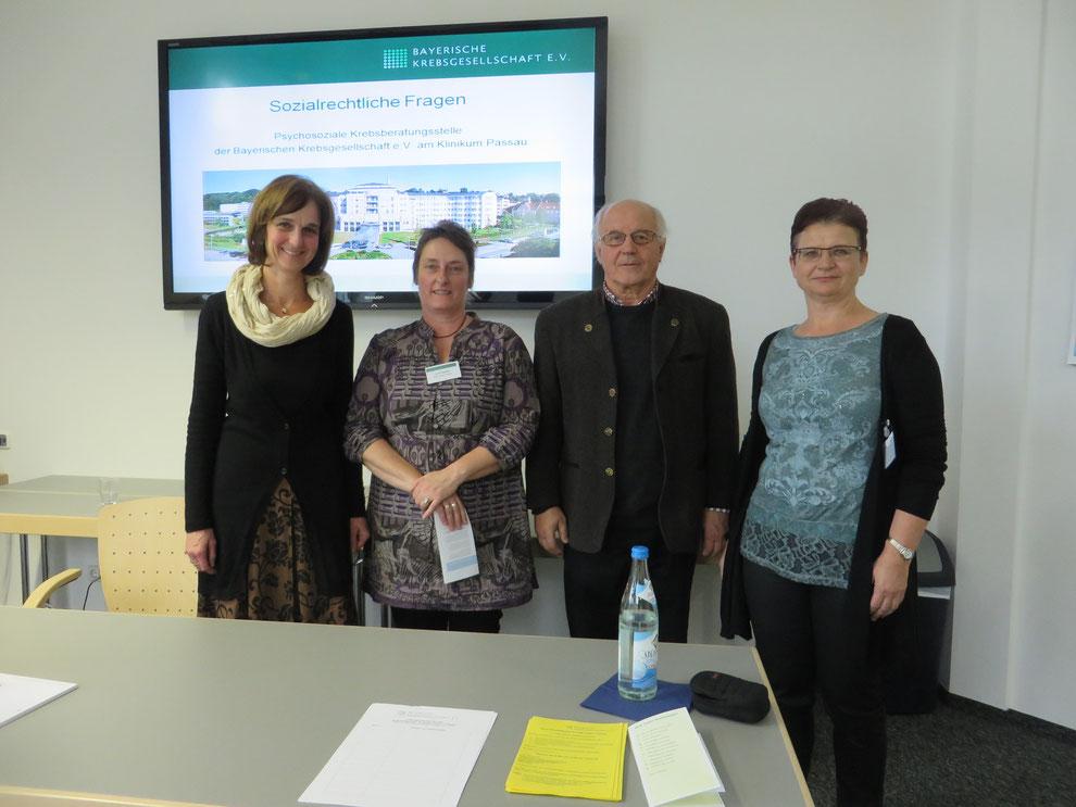 Im Bild von links nach rechts: Martina Oswald, Anne Ragaller, Horst Wallner, Sonja Feyrer-Schmidt.