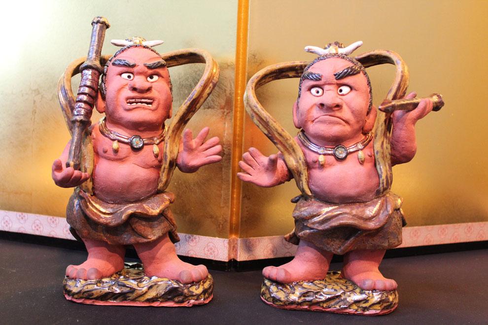 奈良東大寺南大門の金剛力士像をモチーフに制作