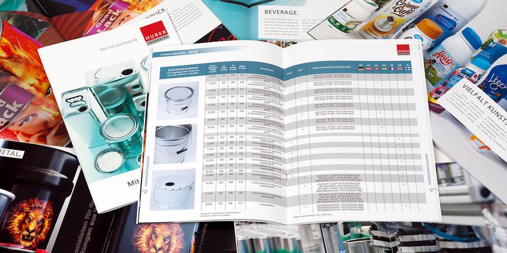 Produktkatalog Metallverpackungen HUBER Packaging